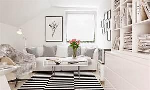 30 inspirations deco pour votre salon blog deco mydecolab With idee deco salon noir gris blanc