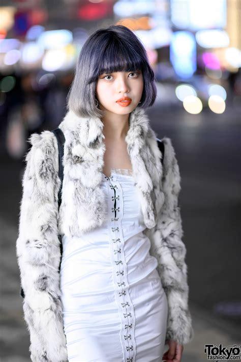 teen japanese fashion designer  lavender bob vintage