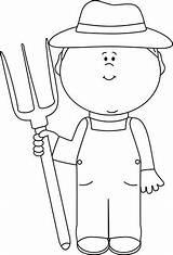 Farmer Clip Clipart Boy Outline Farm Cute Graphics Pitchfork Hay Mycutegraphics Clipartkid Preschool Boys Senior Cliparts Body sketch template