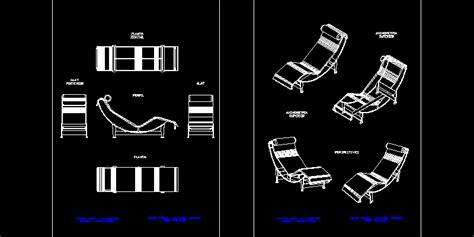 le corbusier chair  dwg block  autocad designs cad
