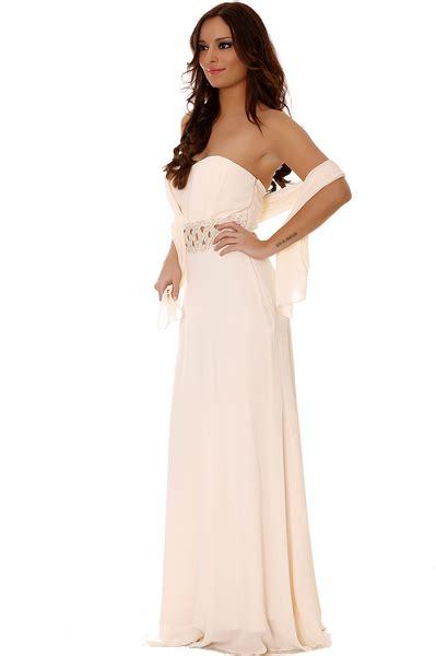 robe de mariã e avec strass robe de soiree longue beige