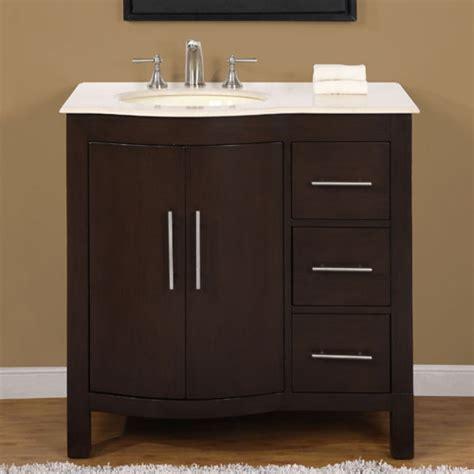 36 Inch Modern Single Bathroom Vanity With Cream Marfil