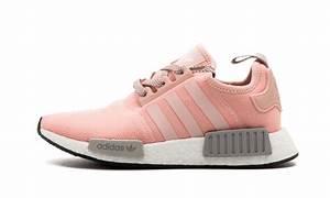 100 Neu RosaGrau Adidas NMD R1 Frauen BY3059