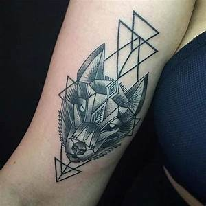 Howling Wolf And Moon Tattoo