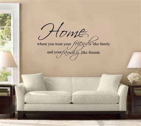 Wall Home Decor by Home D 233 Cor Ideas Wall Quote Stickers To Style The Living