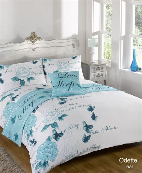 Teal Duvet Cover King by Odette Teal Bed In A Bag Duvet Quilt Cover Bedding Set