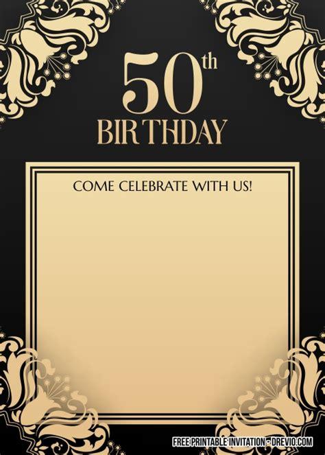 printable  birthday invitation  men drevio