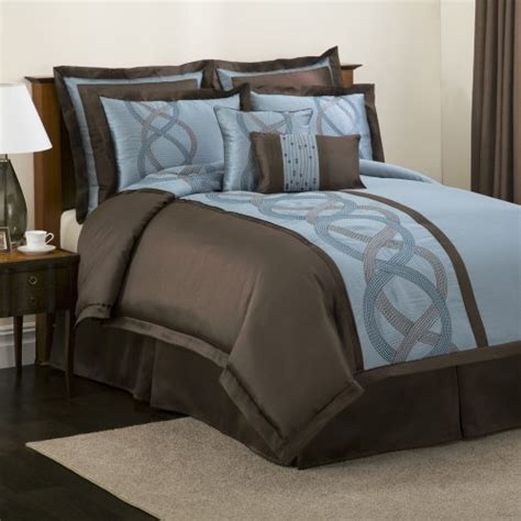 chocolate brown and blue bedding blue and brown bed sets home design inside