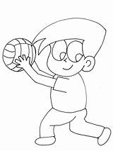 Coloring Volleyball Pages Sports Printable Ball Volley Popular Advertisement sketch template