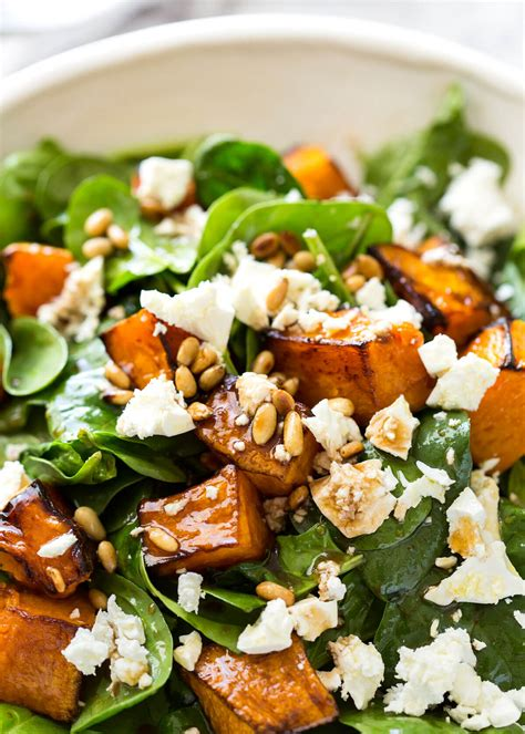 Bar In Kitchen Ideas - roast pumpkin spinach and feta salad recipetin eats
