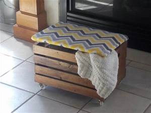 DIY Crate Hinged Lid Ottoman 101 Pallets