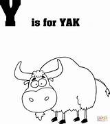 Coloring Yak Letter Pages Printable Dot sketch template