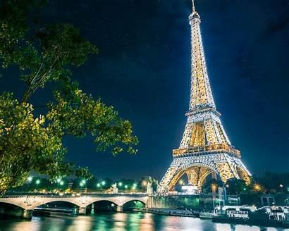 Eiffel Tower Paris Wallpapers Desktop France Night