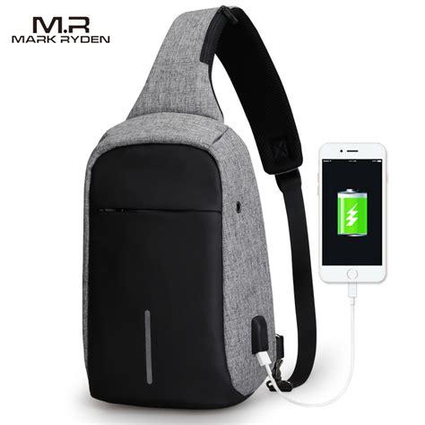 charger dengan 4 usb ryden tas selempang anti maling dengan usb charger