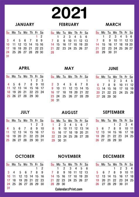 calendar  paper size printable  purple
