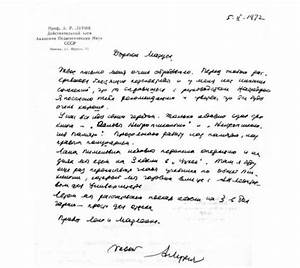 A Cordial Letter Of Prof  Luria To Prof  Klimkowski With