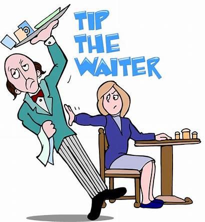 Waiter Clipart Tip Restaurant Tipping Waitress Cliparts