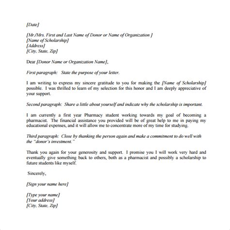 business letter thank you for your support 25 images