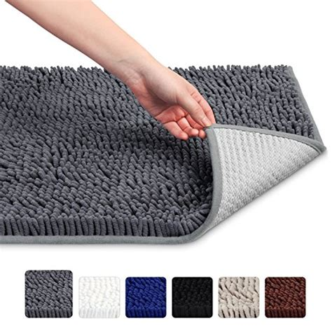 vdomus soft microfiber shag bath rug absorbent bathroom