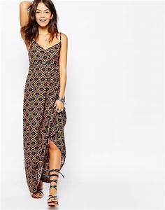 longue robe ete fluide marron a bretelles la robe longue With robe fluide été