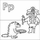 Coloring Pirate Alphabet Letter Parrot Pizza Peg Pig Porcupine Letters Leg Patch Coloringpages4u Coloringpages Activities Animal Preschool sketch template