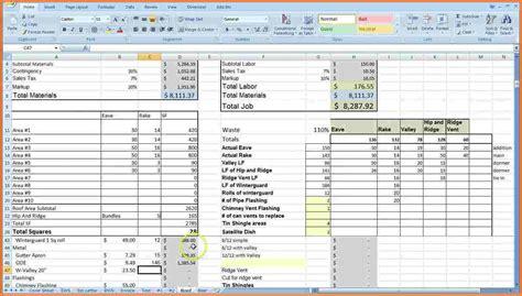construction job costing spreadsheet excel