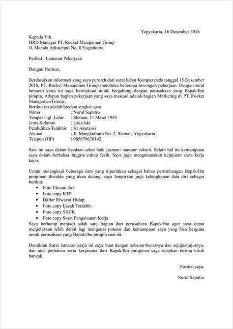 Surat Kronologis by 15 Contoh Surat Lamaran Pekerjaan Yang Baik Dan