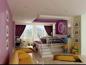 Hochbett Mit Sofa : modernes hochbett mit eingebautem schrank im kinderzimmer ~ Watch28wear.com Haus und Dekorationen