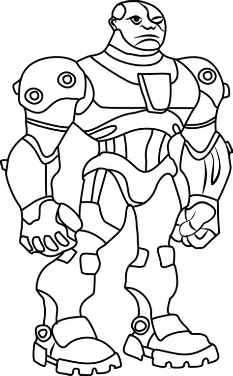 angry cyborg coloring page  printable coloring pages  kids