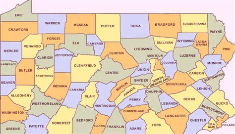map of pennsylvania counties cities map pennsylvania