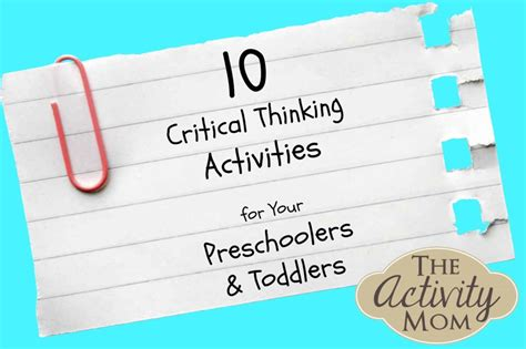 the activity critical thinking activities the 211 | Critical Thinking Activities for Your Preschoolers and Toddlers 1080x719