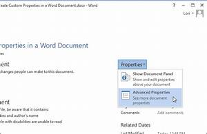 How to Create Custom Properties in a Word Document
