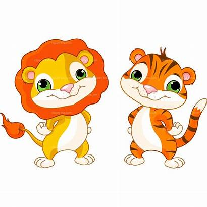 Lion Tiger Clipart Charaktere Tier Animal Animale