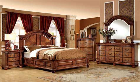 bellagrand antique tobacco oak bedroom set  furniture