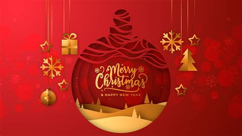 Amazing Wallpaper Of Merry Christmas Red Background Hd