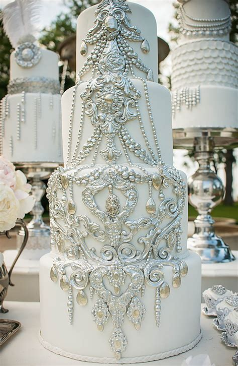 Silver Wedding Cake Decorations