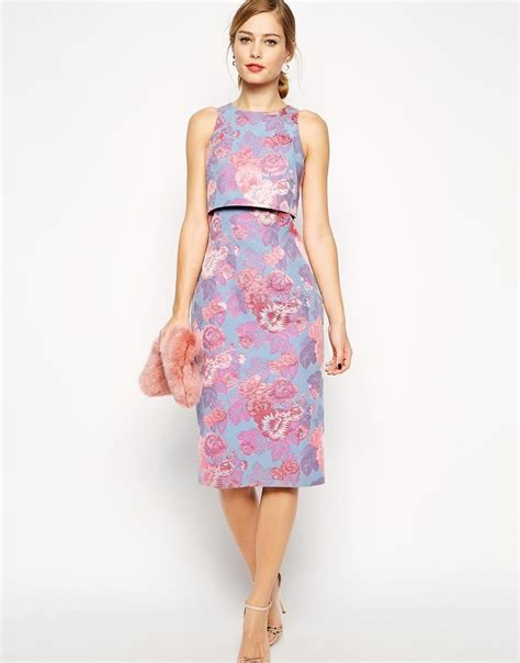 asos purple pink jacquard crop top bridesmaid dress