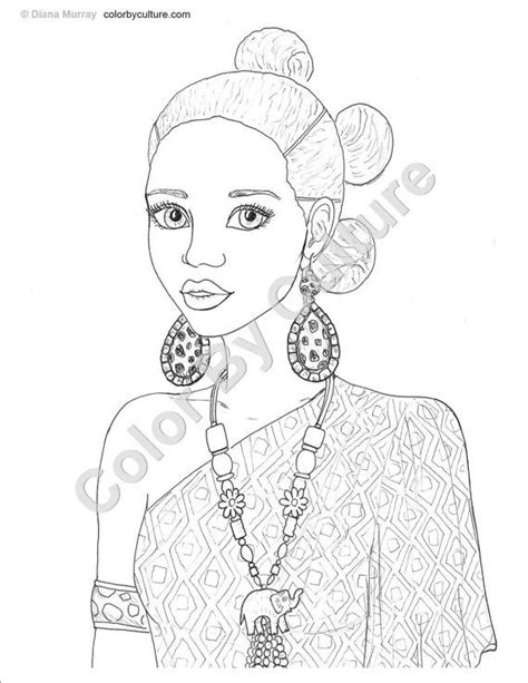 Fashion Coloring Book - African Inspired Fashions to Color