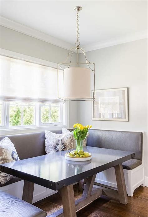 breakfast nook boasts  built   shaped banquette