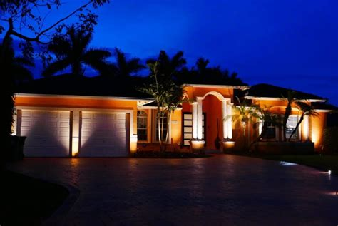 residential exterior landscape lighting by eos outdoor