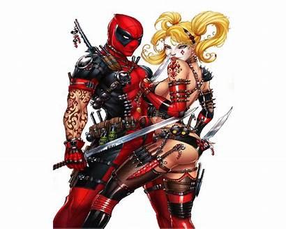 Deadpool Harley Quinn Marvel Comics Dc Wallpapers