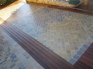 charmant terrasse pave et bois 3 terrasse bois ou pave With terrasse bois et pave