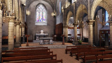 Church Game Environment UDK by amaterasu111 on DeviantArt