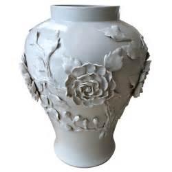 four lovely vintage white glazed ceramic urns at 1stdibs