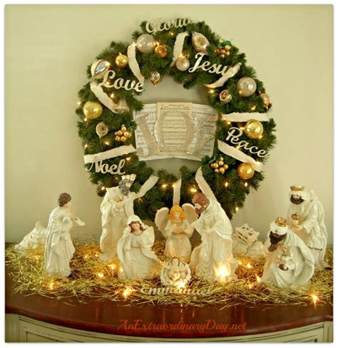 Decorating Ideas For Nativity by 60 Best Nativity Images On