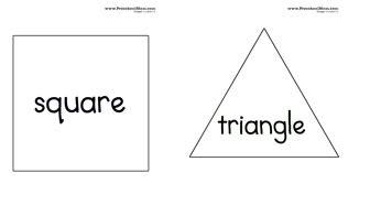 big triangle template printable shape preschool printables preschool mom