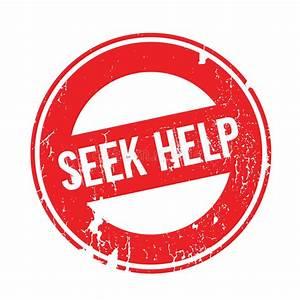 Zoek Hulp rubberzegel vector illustratie. Illustratie ...