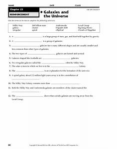 Galaxies Worksheets 8th Grade - Pics about space