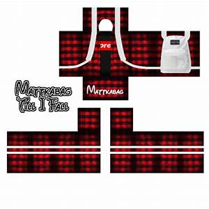 Red Supreme Flannel w/ Backpack - Mattkabag - Roblox