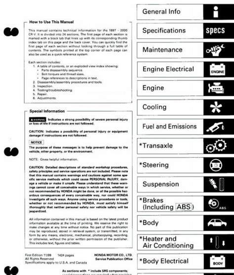 honda crv service repair manual zofti